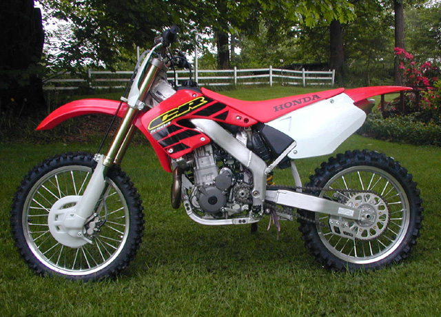 DRZ400 wedged into CR250R chassis